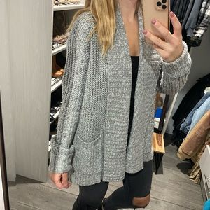 Michael Star grey cardigan sweater